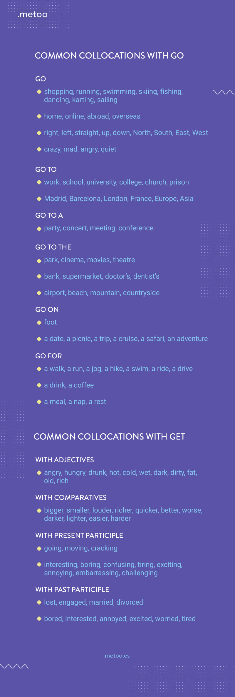 collocations con go y get